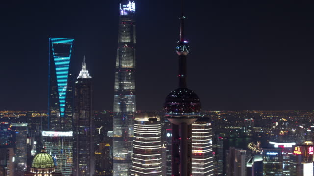 aerial view of skyscraper in shanghai,footage shoot by drone - international architecture stock videos & royalty-free footage