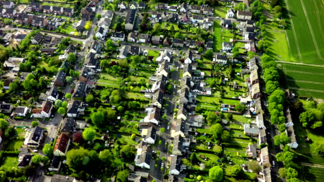 Aerial view of small city. video