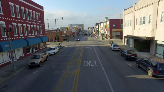 Aerial View of Small Town America Aerial view of Anniston Alabama americana stock videos & royalty-free footage