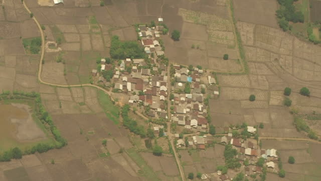 Aerial View of Small Village, Indonesia video