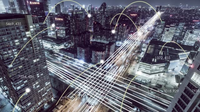 t/l td flyg utsikt över smart city/peking, kina - välstånd bildbanksvideor och videomaterial från bakom kulisserna