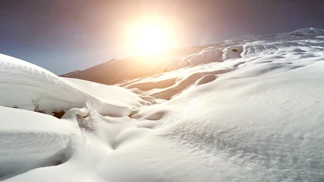 aerial view of snow mountain landscape. alps glaciers