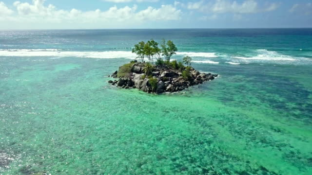 Aerial view of Souris Island - Anse Royale - Mahe