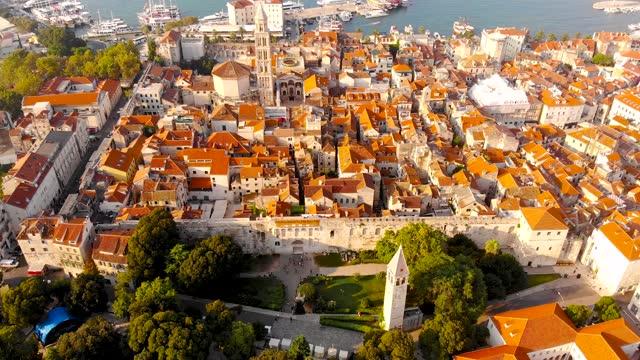 Aerial view of Split in Croatia