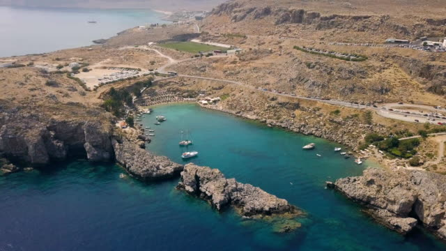 Aerial view of St Paul's Bay video
