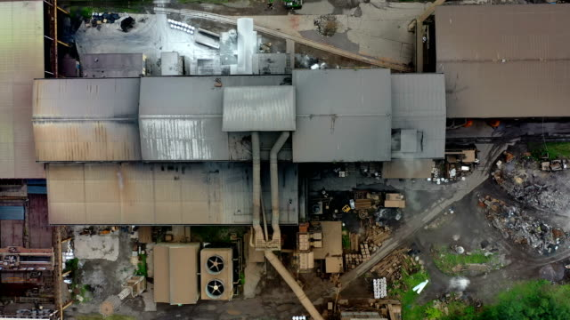Aerial view of steel factory