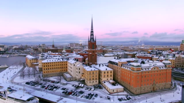 Aerial view of Stockholm City video