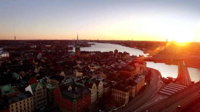 Aerial view of Stockholm City Aerial view of Stockholm City early morning stockholm stock videos & royalty-free footage