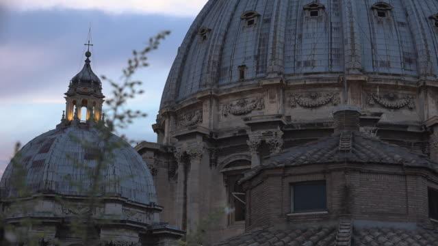 utsikt över st. peters-torget med omgivningar, rom, vatikanen. - påve bildbanksvideor och videomaterial från bakom kulisserna