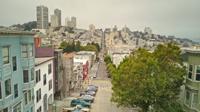 Aerial view of streets of San Francisco video