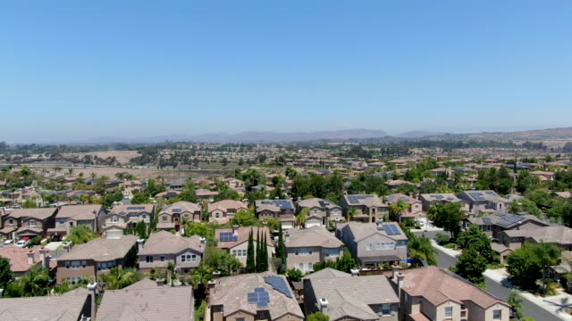 Aerial view of subdivision neighborhood with residential villas