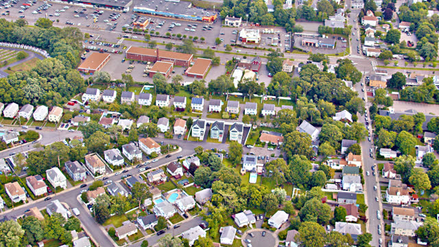 Aerial View of Suburb. USA