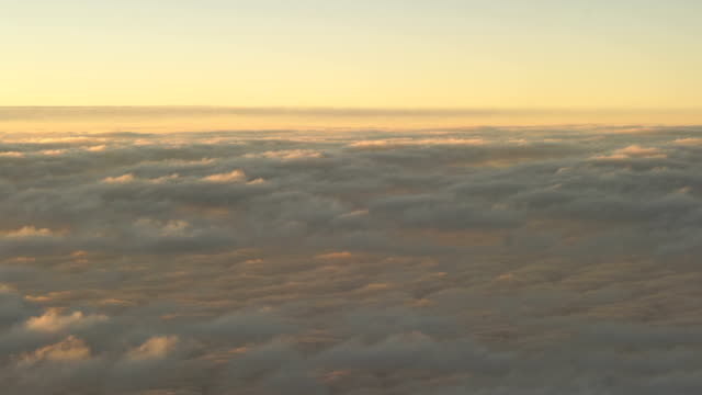 Aerial view of sunrise clouds from the sky
