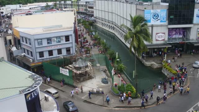 Aerial view of Suva city center, Fiji video