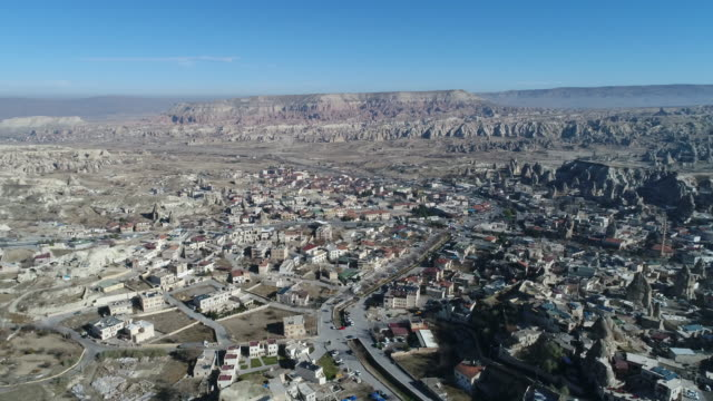 Aerial view of Swords Valley in Cappadocia video