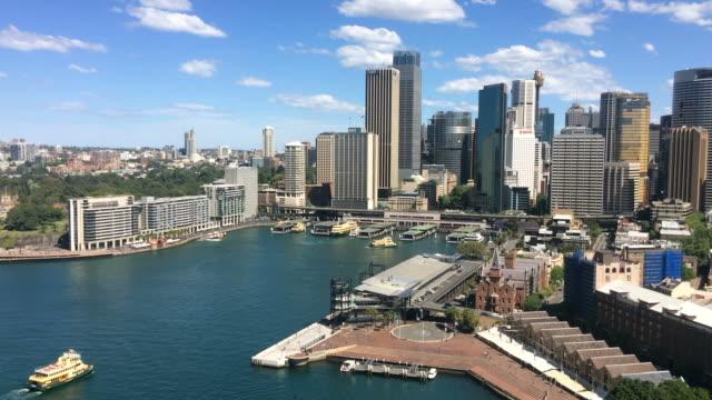 Aerial view of Sydney Circular Quay video