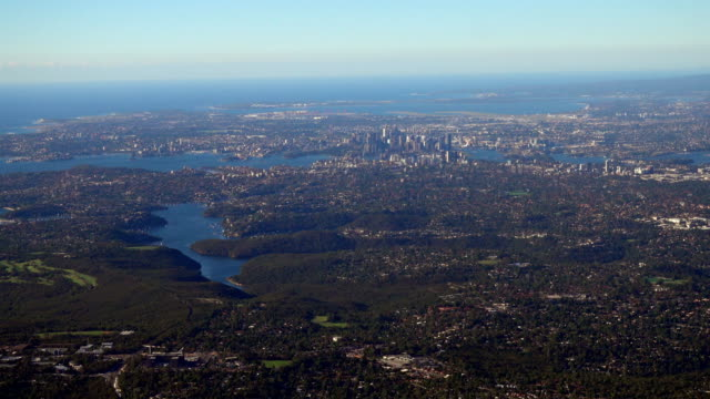 Aerial view of Sydney city video