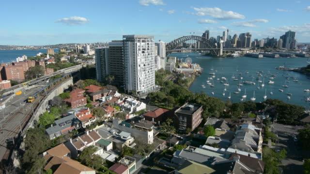 Aerial view of Sydney skyline video