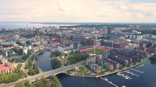 flygfoto över tammerfors - finland bildbanksvideor och videomaterial från bakom kulisserna