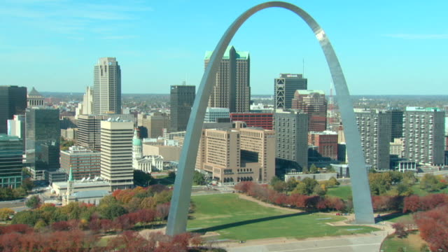 Aerial View of th St Louis Arch video