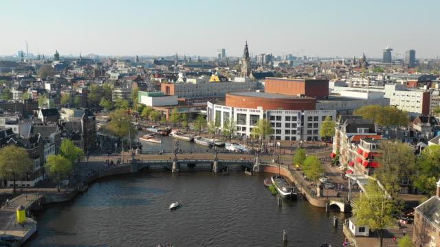 flyg foto över floden amstel och nation ale opera - drone amsterdam bildbanksvideor och videomaterial från bakom kulisserna