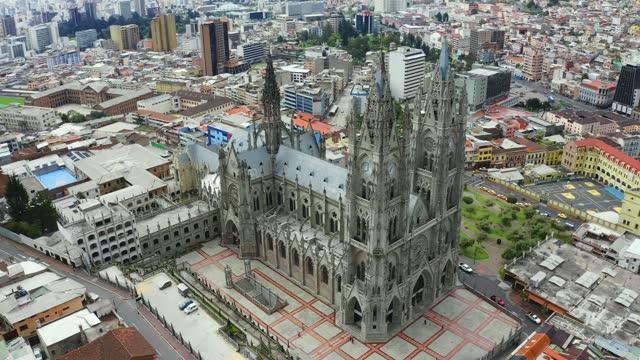 Aerial view of the Basílica del Voto Nacional,