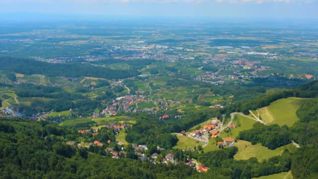 Aerial view of the black forest in Germany video