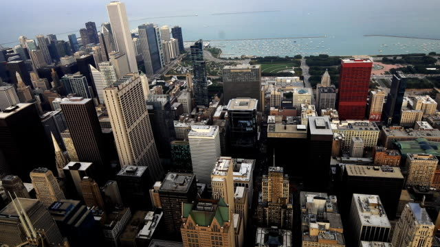 Aerial view of the Chicago, Illinois skyline video