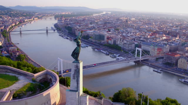 Aerial view of the Citadella in Budapest video