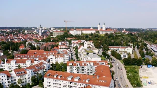 Luftaufnahme der Stadt Freising, Bayern, Deutschland – Video