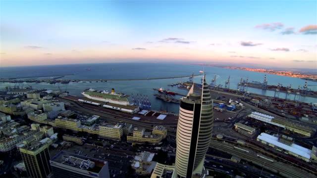 Aerial view of the city Haifa video