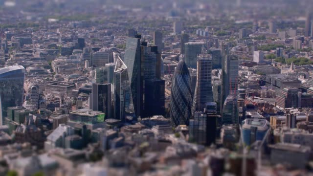 aerial view of the city, london, uk. 4k - london architecture stock videos & royalty-free footage