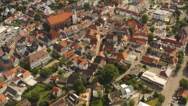 aerial view of the city oberkirch in germany - barocco video stock e b–roll