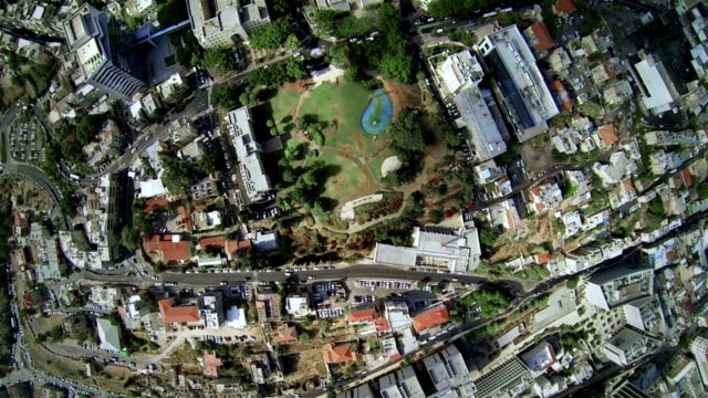 Aerial view of the city park video