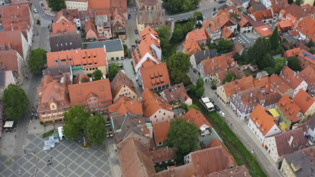 Aerial view of the city Schwabach in Germany video