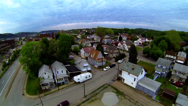 Aerial view of the city video