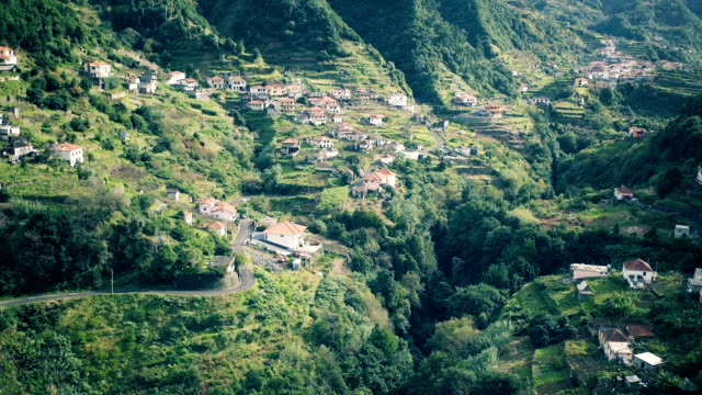 Aerial View of the Countryside in Mountains video