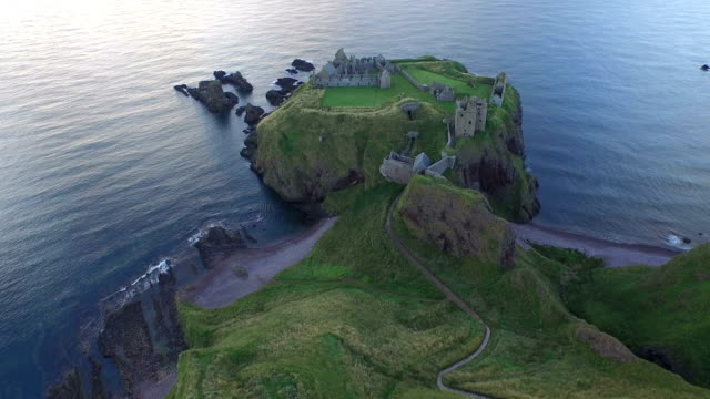 Aerial view of the Dunnottar Castle