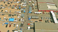 istock Aerial view of the Englishtown the best flea markets NJ USA 1323093518
