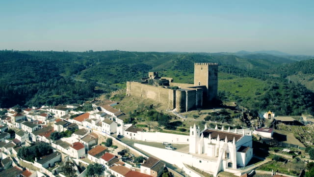 Aerial View of the Fortified Town video
