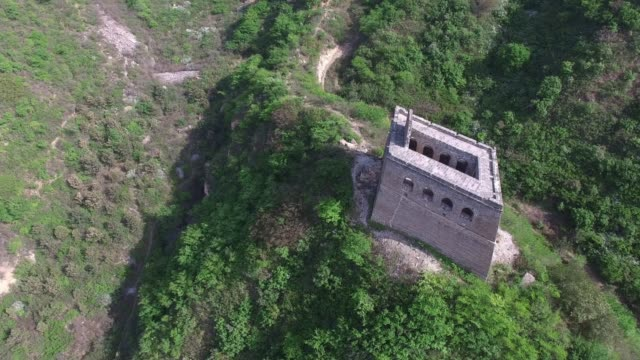 Aerial view of the Great Wall of Beijing, China