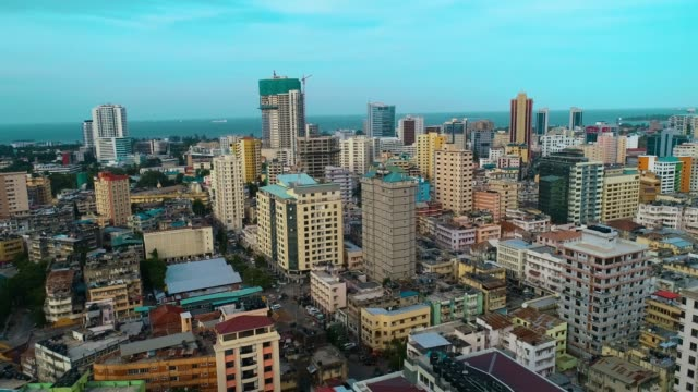 Aerial view of the haven of peace, city of Dar es Salaam Aerial view of the haven of peace, city of Dar es Salaam, Tanzania tanzania stock videos & royalty-free footage