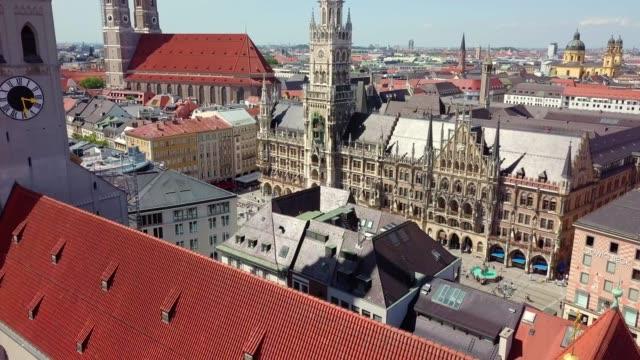 Luftaufnahme der Münchner Innenstadt, Bayern, Deutschland – Video