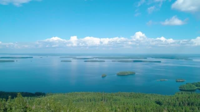 flygfoto över sjön och skogen i södra finland - finland bildbanksvideor och videomaterial från bakom kulisserna