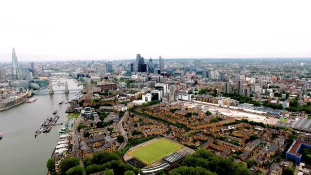 Aerial View Of The London Skyline And Famous London Skyscrapers video