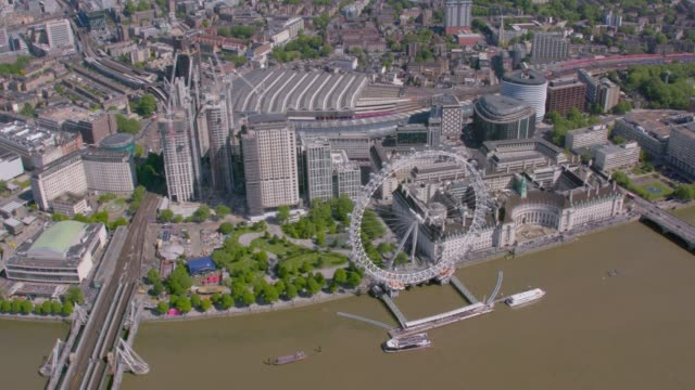 Aerial View of the London, UK. 4K