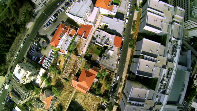 Aerial view of the modern city video