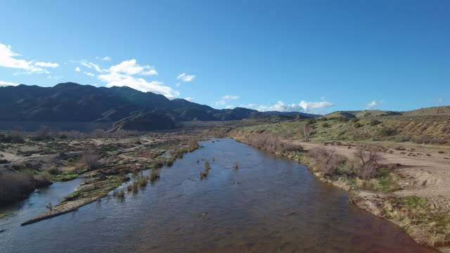 Aerial view of the Mojave River video