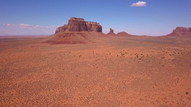 Aerial view of the Monument Valley National park