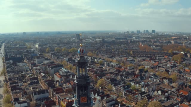 aerial view of the narrow canals and architecture Beautiful aerial view of the narrow canals and architecture in Amsterdam. City landscape. amsterdam stock videos & royalty-free footage
